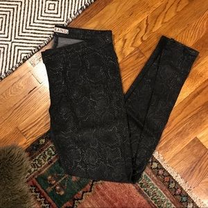 J Brand snakeskin printed jeans